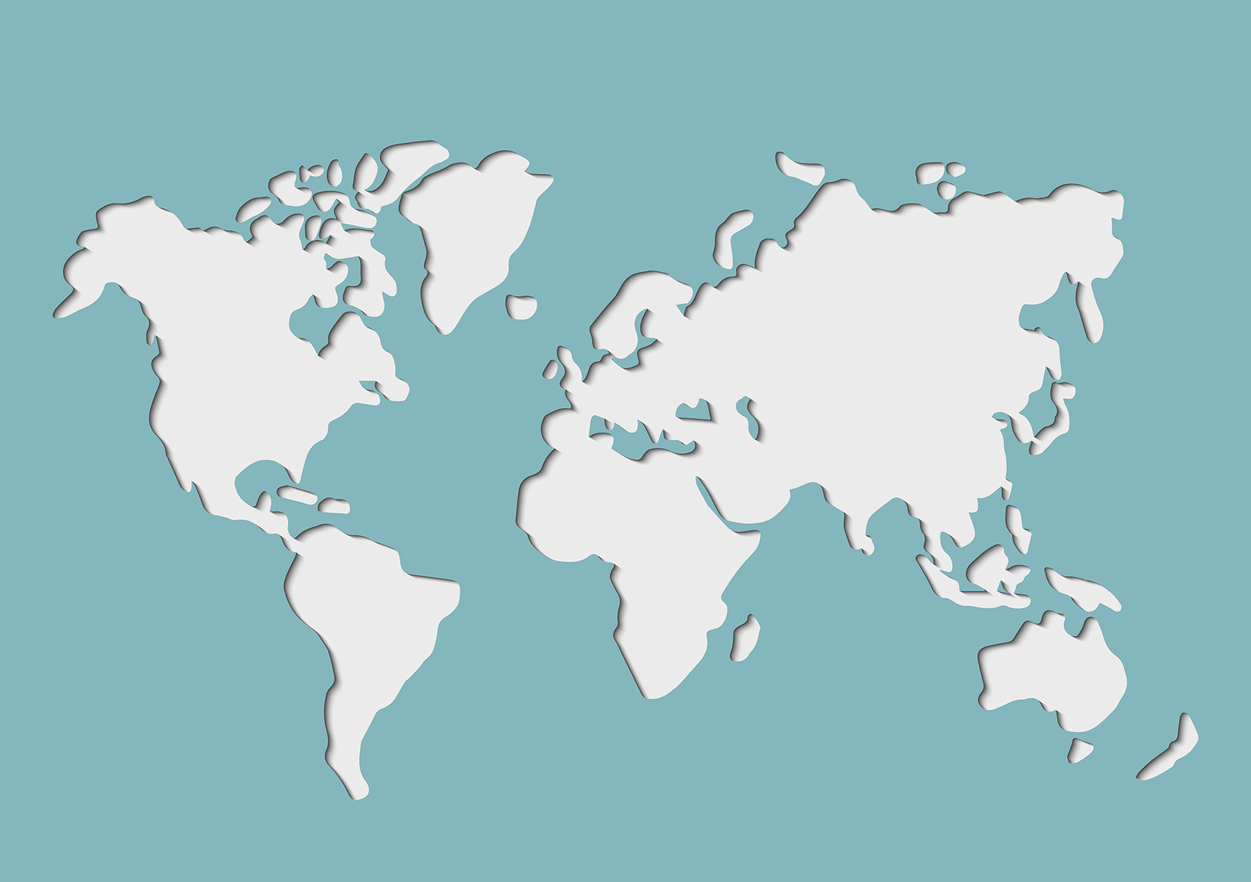 Paper Cut style of map